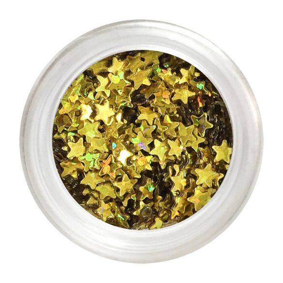 Gold Nail Plastic Stars