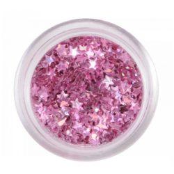 Metallic Pink nail plastic stars