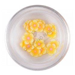 Rubber Nail Art Flower - Lemon
