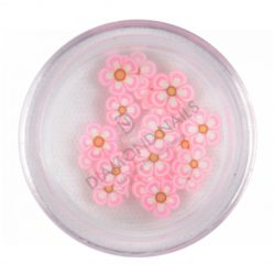 Rubber Nail Flowers - Light Pink