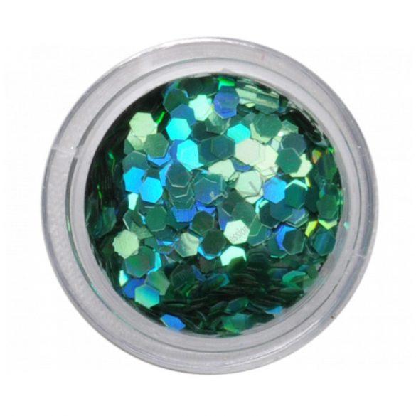 M. Hologramm flitter-Turquoise