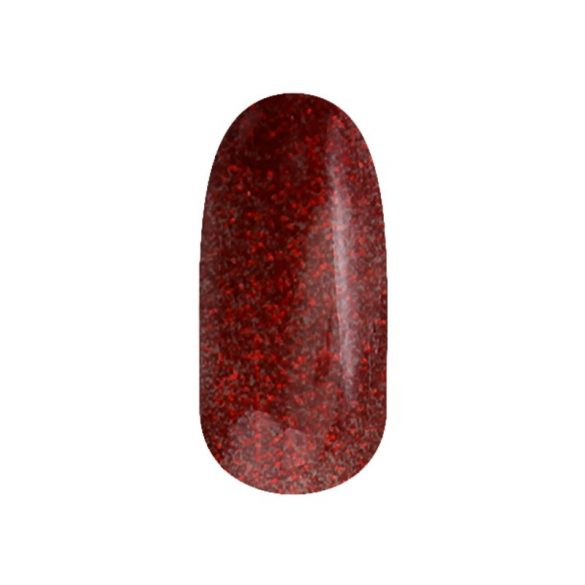 Gel Nail Polish - DN104 - Glittering Christmas Red