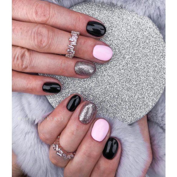 Gel Nail Polish - DN105 - Glittering Silver