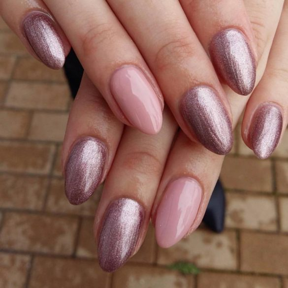 Gel Nail Polish - DN072 - Metalic Light Lilac