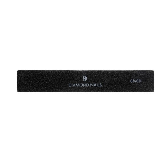 Square nail file - black 80/80