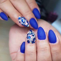 Gel Nail Polish - DN081 - Metalic Royal Blue