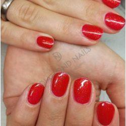 Gel Nail Polish - DN136 - Christmas Red (tiny glitters)