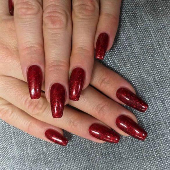 Gel Nail Polish - DN174 - Shimmering Blood Orange