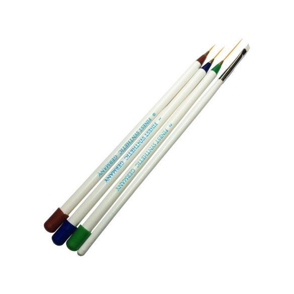 Nail Art Brush Set 4 pcs - White