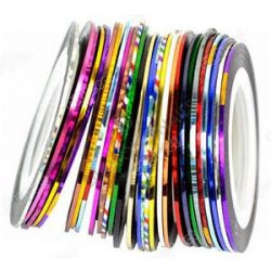Nail Art Striping Tape - holographic pink (Size S)