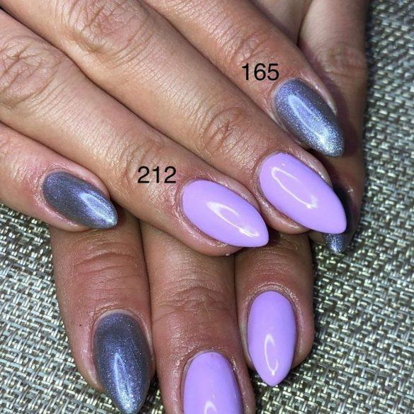 Gel Nail Polish - DN165 - Silver Metal (purplish)