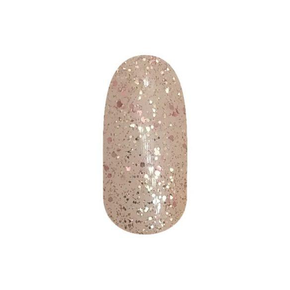 Gel Nail Polish - DN227 - Shimmering Rosegold (big glitters)