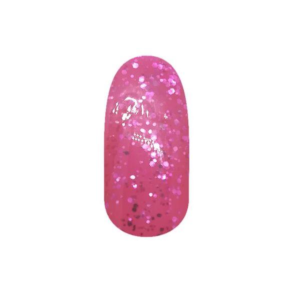 Gel Nail Polish - DN225 - Shimmering Pink (big glitters)
