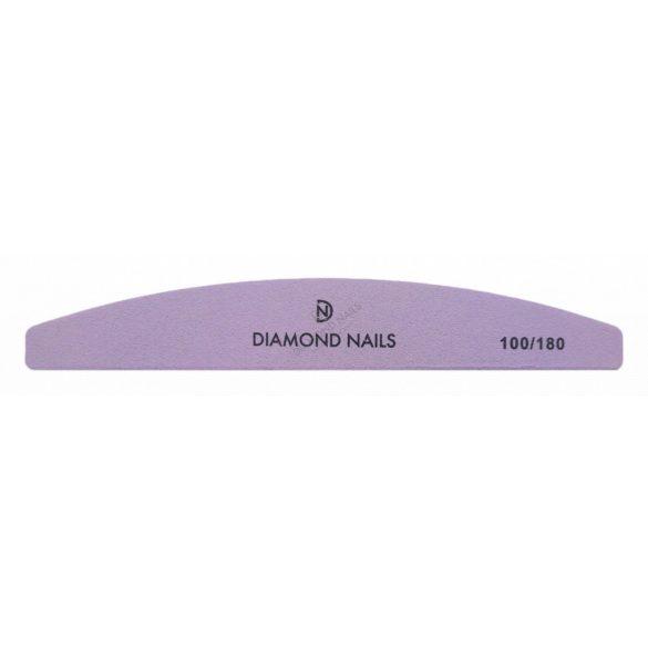 Half moon nail file purple 100/180
