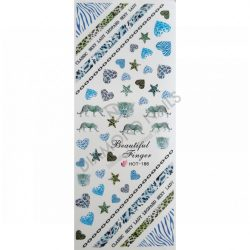 Nail Art Stickers - Blue Africa - HOT186