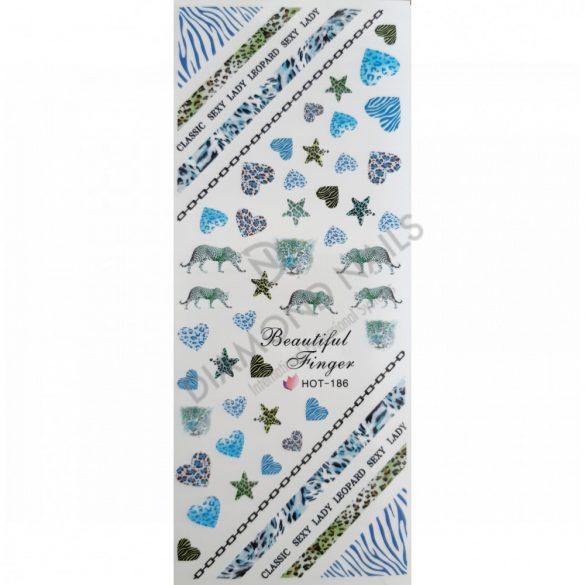 Nail Art Stickers - Blue Africa - HOT186