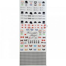Nail Art Stickers - Lips & Hats - HOT189