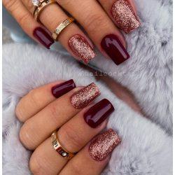 Gel Nail Polish - DN060 - RoseGold (big glitters)