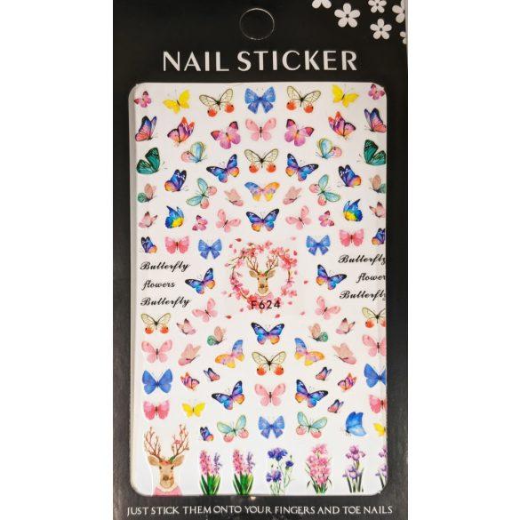 Nail Art Stickers - Butterflies 2 - F624