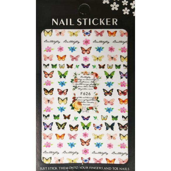 Nail Art Stickers - Butterflies - F626