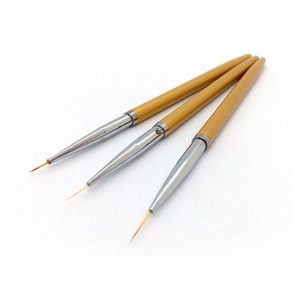 Nail Art Brush Kit - Gold (6-10 mm) - 3 pcs