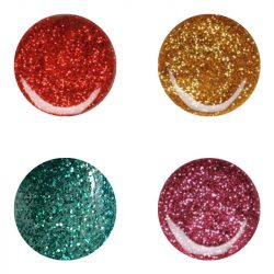 Colour Gels in one package - 4 Glitter colour gels