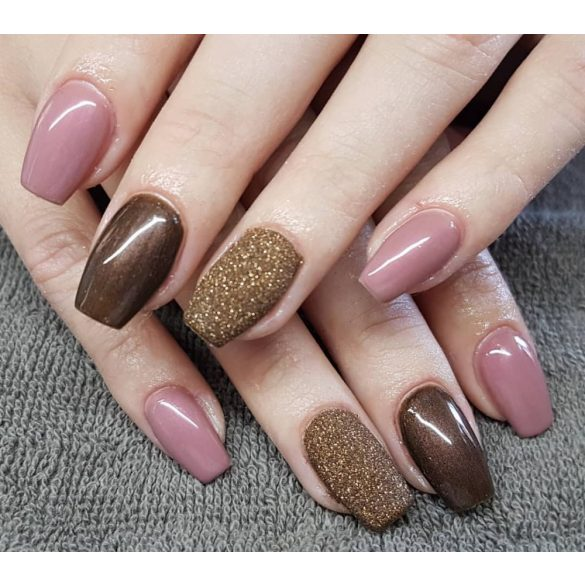 Gel Nail Polish - DN029 - Dark Brown Pearl
