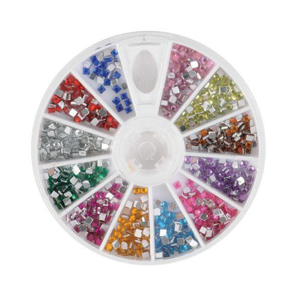 Nail art rhinestones - square