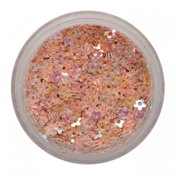 Nail Plastic Flowers - Beige