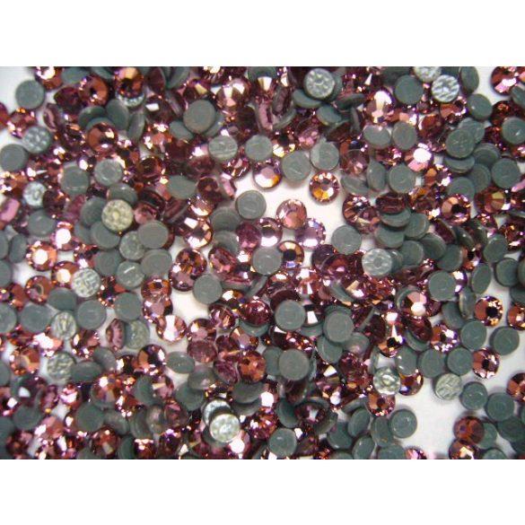 Iron on Swarovski Rhinestones, Light Rose, 50pcs