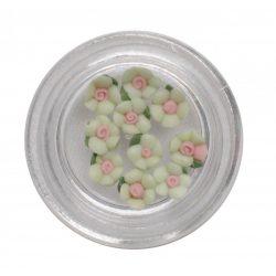 Acrylic nail flower 3mm - Light Green