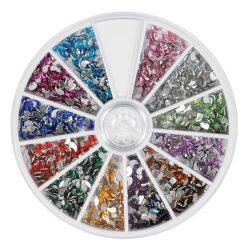 Nail art rhinestones - ying yang